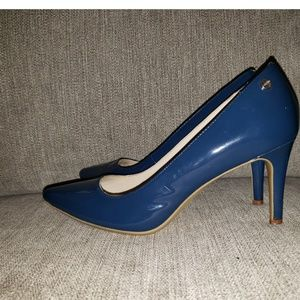 Calvin Klein Navy Blue Patent Nilly Pump 6.5